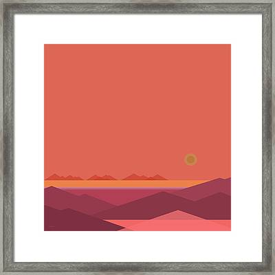 Peach Dawn Framed Print