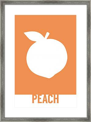 Peach Food Art Minimalist Fruit Poster Series 007 Framed Print by Design Turnpike