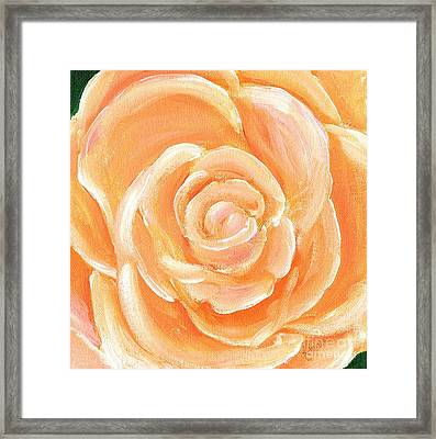 Peach Melba Framed Print