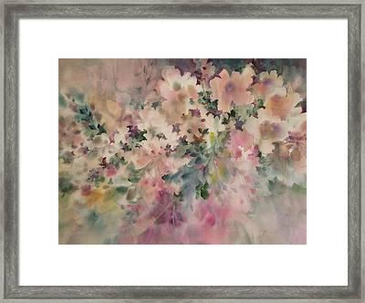 Peach Parfait Framed Print