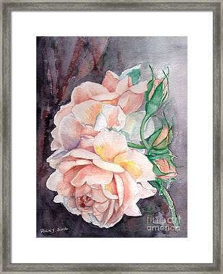 Peach Perfect - Painting Framed Print by Veronica Rickard