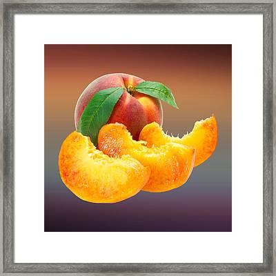Peach Sliced  Framed Print by Movie Poster Prints