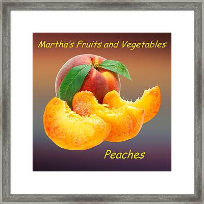 Peach Slices Customized  Framed Print by Movie Poster Prints