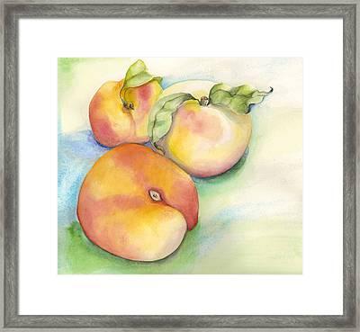 Peach Time Framed Print