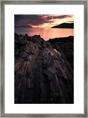 Peach Framed Print by Tor-Ivar Naess