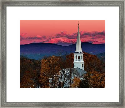 Peacham And White Mtn Sunset Framed Print by Tim Kirchoff