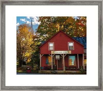 Framed Print featuring the photograph Peacham Vermont General Store by Expressive Landscapes Fine Art Photography by Thom