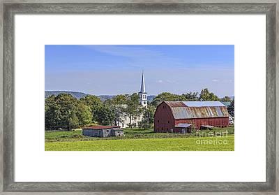 Peacham Vermont Idylic Vermont Scene Framed Print