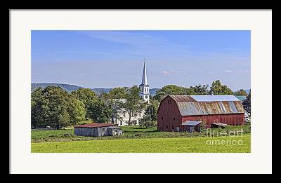Vermont Village Framed Prints