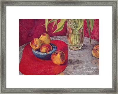 Peaches And Nectarines Framed Print by Kathryn Donatelli