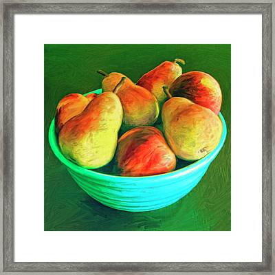 Peaches And Pears Framed Print by Dominic Piperata