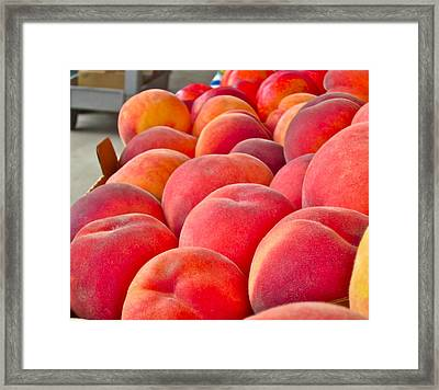 Peaches For Sale Framed Print by Gwyn Newcombe