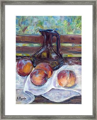Peaches Framed Print by Natia Tsiklauri