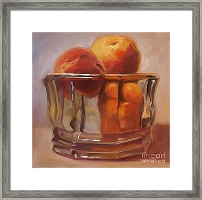 Peaches Print Wall Art Room Decor Framed Print by Patti Trostle