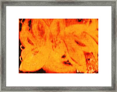Peaches Without The Pits Framed Print by Anne-Elizabeth Whiteway