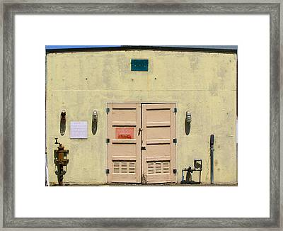 Peachy Doors Framed Print