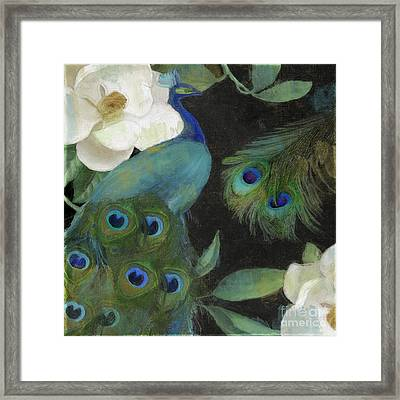 Peacock And Magnolia II Framed Print