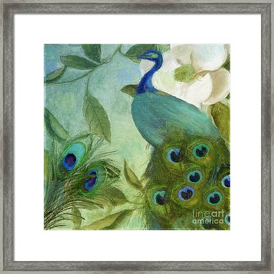 Peacock And Magnolia IIi Framed Print