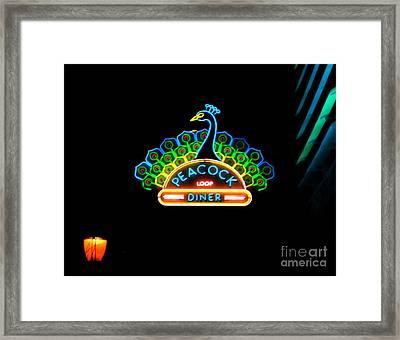 Peacock Diner In The Loop Framed Print