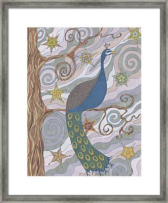 Peacock Dream's Framed Print