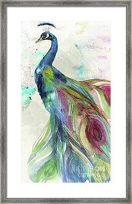 Peacock Dress Framed Print by Mindy Sommers