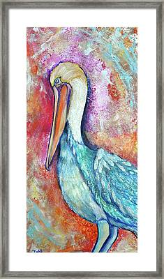 Peacock Envy Framed Print by Debi Starr