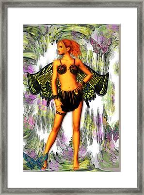 Peacock Fae Framed Print by Dorothy Lee