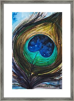 Peacock Feather Framed Print by Tara Thelen