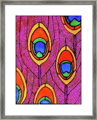 Peacock Feathers Framed Print by Farah Faizal