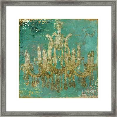 Peacock Gold Chandelier Framed Print