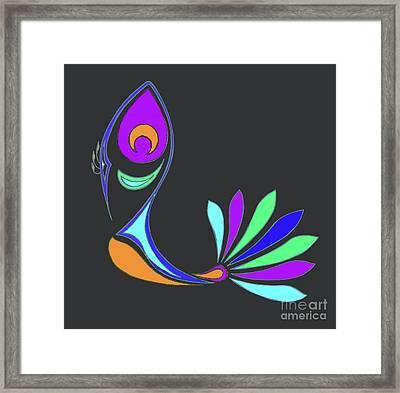 Peacock Impressions Framed Print