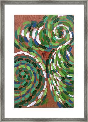 Peacock Framed Print by Kristin Whitney