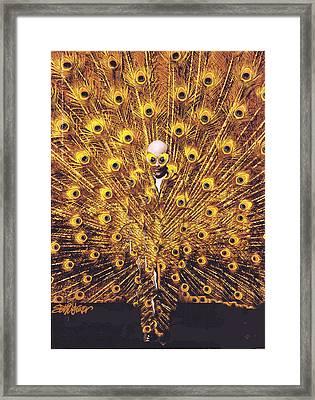Peacock Man Framed Print by Seth Weaver