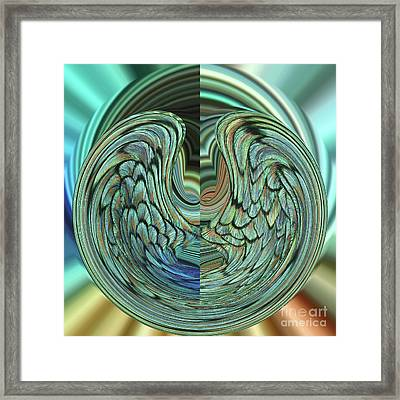 Peacock Orb #3 Framed Print by Judy Whitton