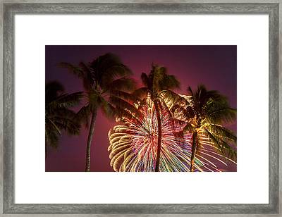 Peacock Palms Framed Print