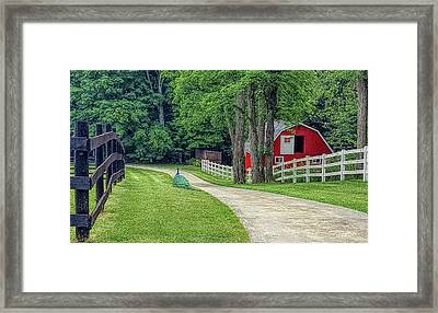 Peacock Ranch Framed Print