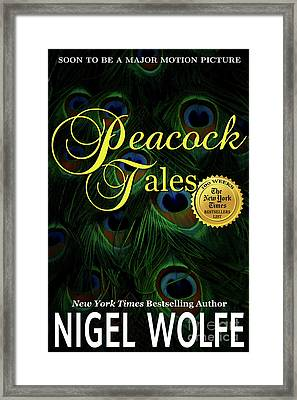 Peacock Tales Book Cover Framed Print