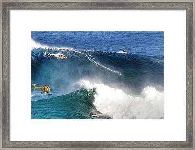 Peahi Maui Framed Print by Dustin K Ryan