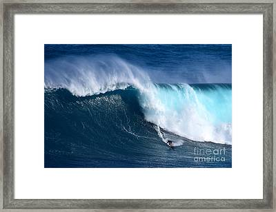 Peahi Unleashes Framed Print by Jackson Kowalski