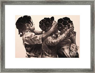 Peak A Boo Framed Print by Curtis James