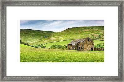 Peak Farm Framed Print