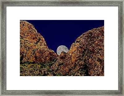 Peak Full Moon H03 Framed Print