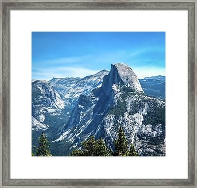 Peak Of Half Dome- Framed Print