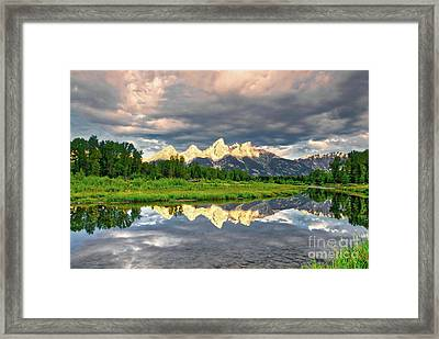 Peak Reflections 5 Framed Print by Mel Steinhauer