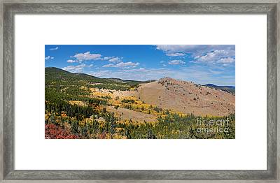 Peak To Peak Highway Fall Foliage In The Rocky Mountains - Boulder County Colorado State Framed Print