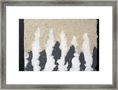 Peaks And Fountains Framed Print by Annie Alexander