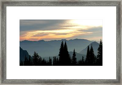 Framed Print featuring the photograph Peaks And Valley by Larry Keahey