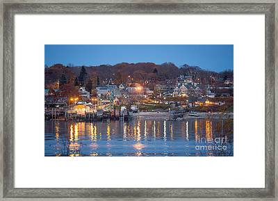 Peaks From House Island Framed Print by Benjamin Williamson