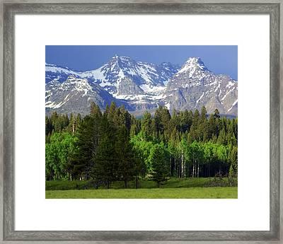 Peaks Framed Print by Marty Koch
