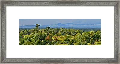Peaks Of Otter After The Rain Framed Print